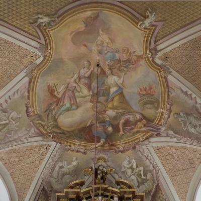 Glorie der hl. Margaretha, Barbara und Katharina