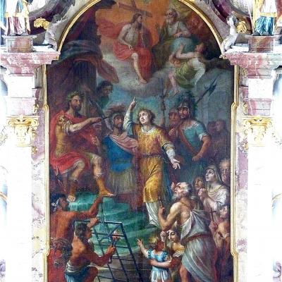 Untereberfing Hochaltar St. Laurentius