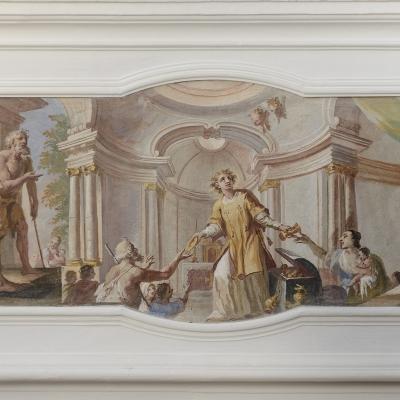 Hl. Laurentius verteilt die Güter der Kirche